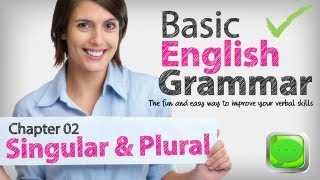 Basic English Grammar  02 -- Singular & plural nouns | English lesson | ESL | Spoken English