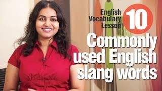 10 commonly used slang words used in English - Advance English Lesson