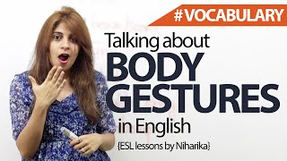Talking About Body Gestures in English – Free Spoken English Lessons