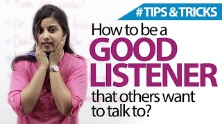 How To Be A Good Listener? Free English lessons ( Listening skills)