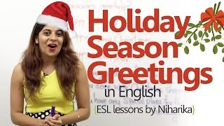 English Lesson - Holiday Season Greetings ( Learning English Speaking)