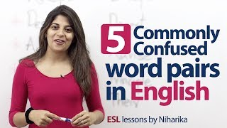 5 commonly confused word pairs in English. - English Grammar lesson