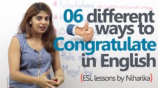 English speaking Lesson - 6 different ways to congratulate someone. ( Learn English)