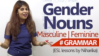 English Grammar lesson - Gender Nouns ( Learn Fluent English)