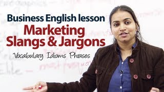 Marketing Slangs & Jargons - Business English ESL Lesson