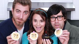 BOMBERMAN CUPCAKES - ft. Rhett and Link! - NERDY NUMMIES