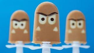 SUPER MARIO GOOMBA POPSICLES - NERDY NUMMIES